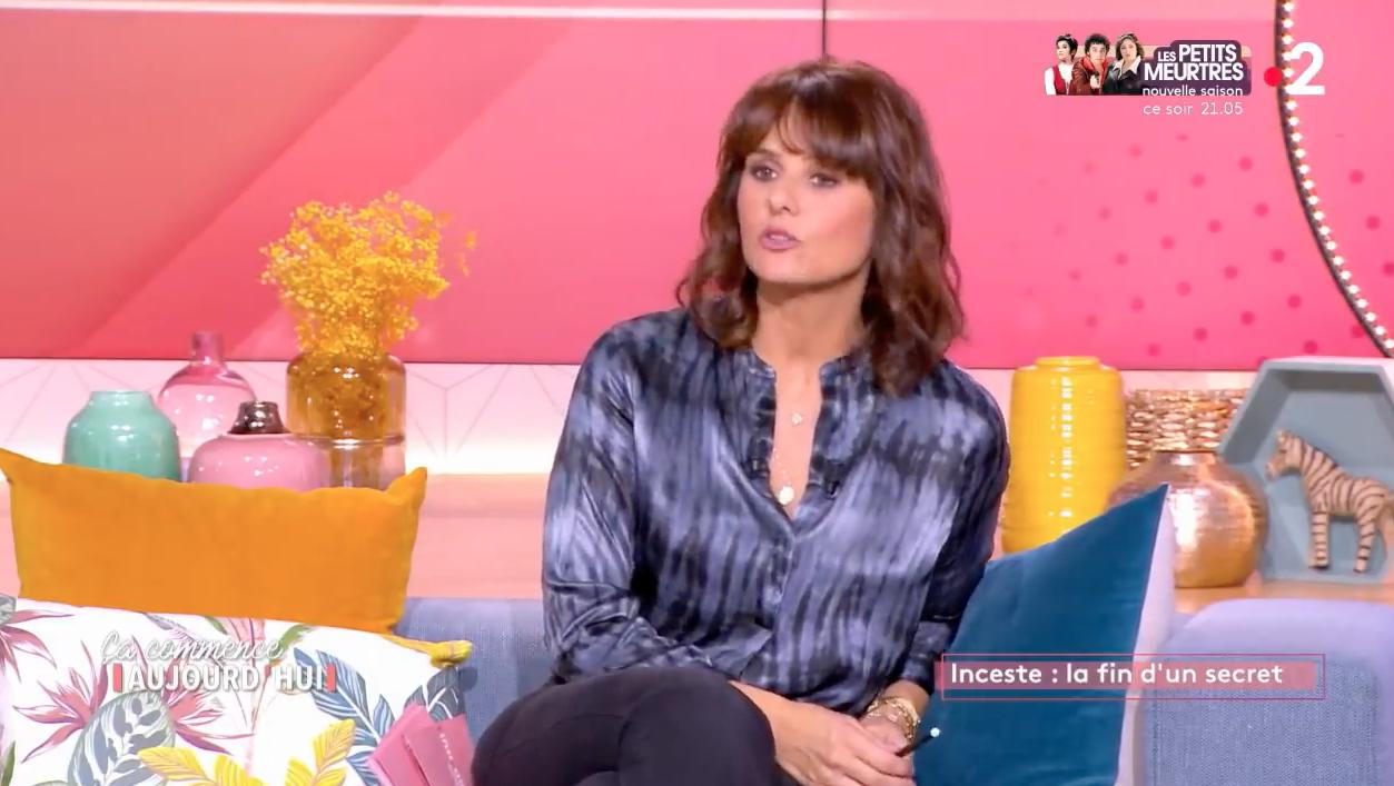 """Interview d'Isabelle Sezionale ( auteur ) avec Faustine BOLLAERT sur France 2 dans l'émission """" Ça commence aujourd'hui """" du 29 janvier 2121"""